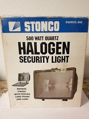 Stonco 500 Watt Quartz Halogen Security Light Bronze Finish Eq500l Brz E12