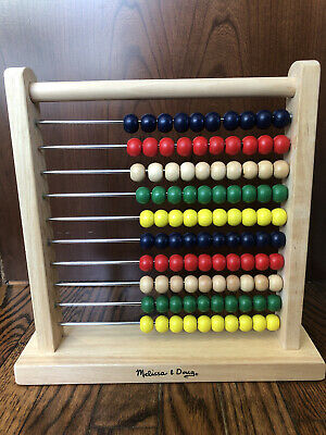 Melissa and Doug Classic Wooden Abacus Calculator #493 NEW - FREE SHIPPING