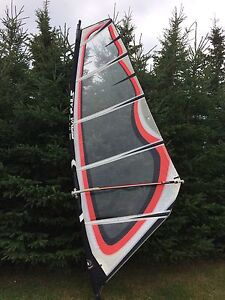Windsurfing rig, complete.