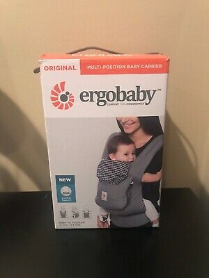 Ergo Baby Multi Position Carrier - Steel Plaid Color. Lumbar Support