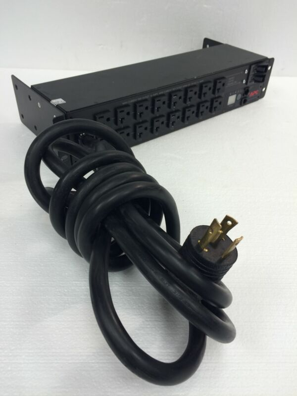 APC AP7902 Switched 16-Outlet Rack Power Distribution Unit PDU 100/120V Working