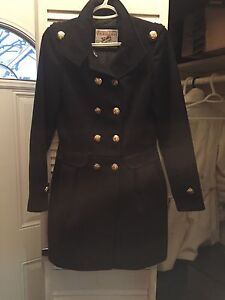 Winter jacket with gold hardware