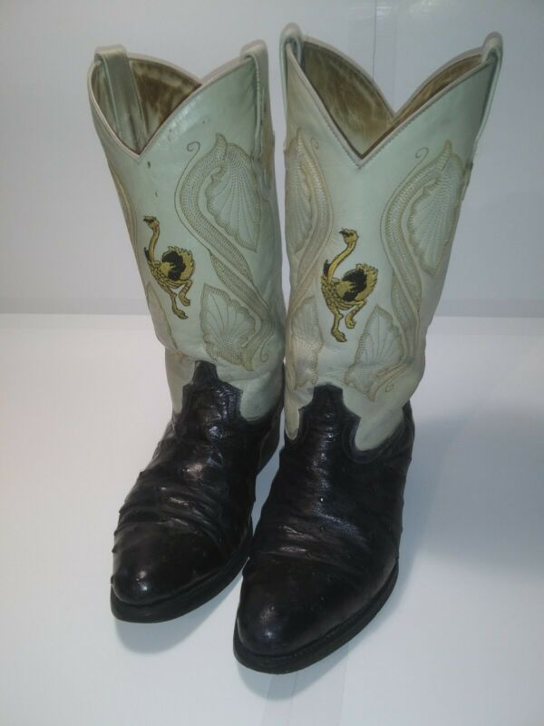 Exotic, Full, Quill, Ostrich, Western, Boots, Handcrafted, 9M, Rodeo, Cowboy, Mens, Womens