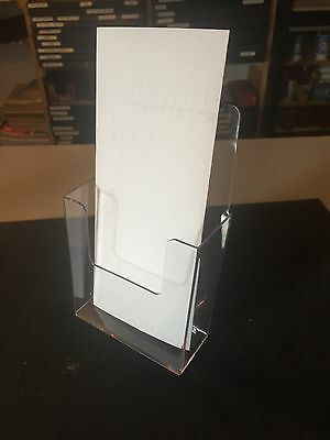 Lot Of 12 New Acrylic Brochure Stands Holders 4 12w 7h Trade Show Counter