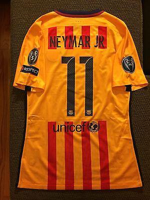 823db72c2aa3a Neymar Away Yellow Back FC Barcelona UCL Match Issue Un Worn 15-16