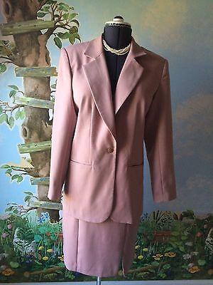 Lew Magram Career Pink Skirt Women Long Sleeve Suit SZ 10  ()