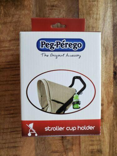 Genuine  OEM  Peg Perego Stroller Cup Holder in Charcoal BNIB