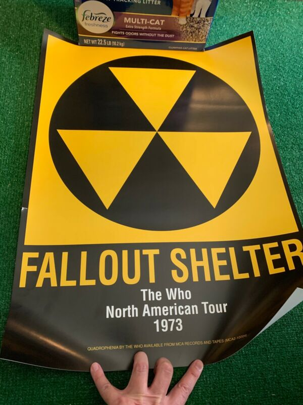 THE WHO Fallout Shelter US 1973 North American Tour Promo POSTER Quadrophenia LP