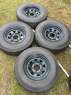 Toyota Land Cruiser 4x4 rims and tyres Toorbul Caboolture Area Preview