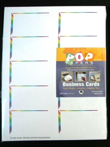 "500 Printable Business Cards ""Spectrum"" by AMPAD ~ 2 Packs of 250 (total 500)"