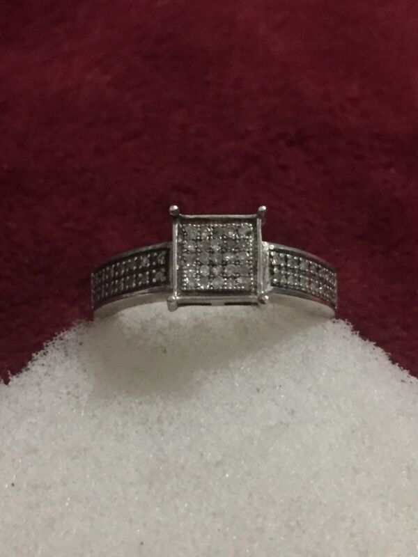 sterling silver diamond ring Scrap Or Wear Size 7