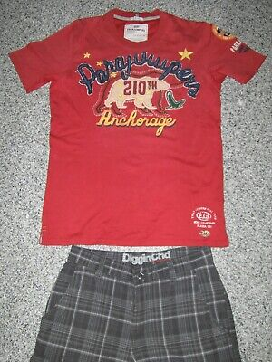 Parajumpers PJS T-Shirt rot 3 D Logo Gr. M Anchorage Top Zustand