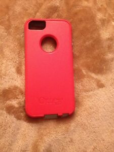 Grey and red iPhone 5 case