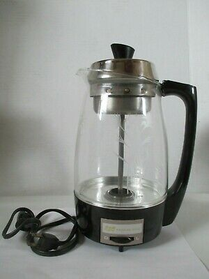 Vintage SCM Proctor-Silex Electric Glass Percolator Model 70503