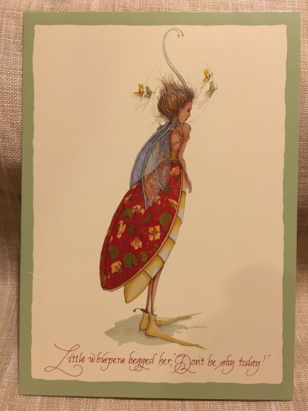 PATIENCE BREWSTER Little Whispers Butterfly Fairy Blank Inside Greetings Card.