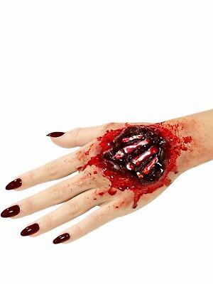 Hand Bones Halloween Fake Prosthetic Latex Joke Scar Fancy Dress Zombie Make Up ()