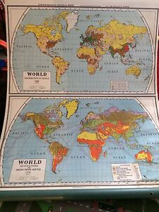 Wall decor - Vintage school map of the world