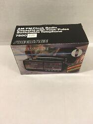 "Vintage Soundesign Alarm Clock Phone AM/FM Radio Casette Player 7580IVY ""T3"""