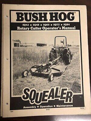Bush Hog Sq42 Sq48 Sq60 Sq72 Sq84 Squealer Rotary Cutter 65556