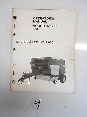 1983 Sperry New Holland 858 Hay Round Baler Operators Owners Manual 42085810