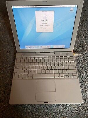 """Apple iBook G4 A1054 12.1"""" Laptop / White 1.2GHz Very clean"""