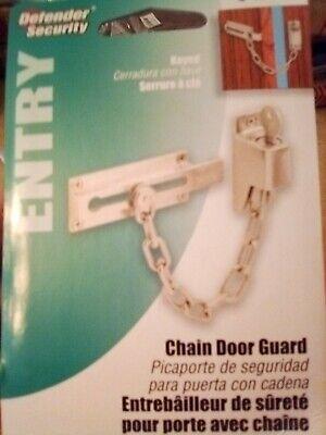 Defender Security Keyed Diecast Chain Door Guard, 3-1/4