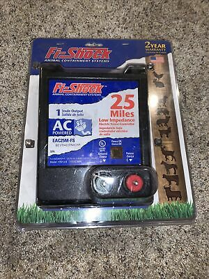 New Fi-shock Eac25m-fs 25 Mile Electric Fence Controller Ac Power 6969463