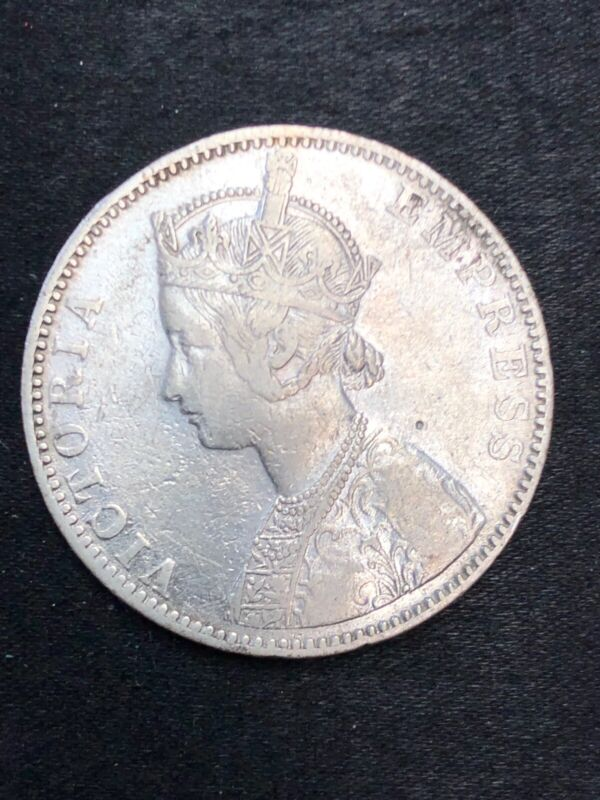 British India one rupee 1892  Silver