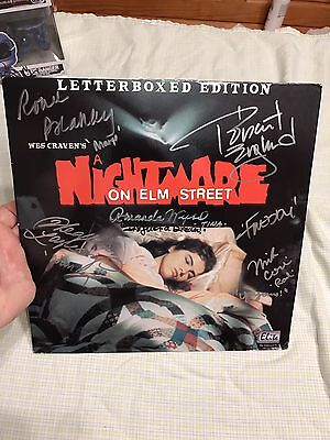Robert Englund Heather Langenkamp Signed  By 5 Nightmare On Elm Street Laserdisc
