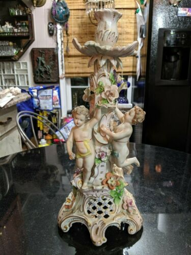 Awesome Antique Ceramic Candle Stick