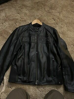mens harley davidson 3 In 1 leather jacket medium