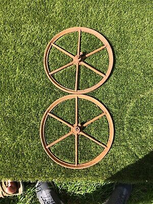 Pair Cast Iron Wheels