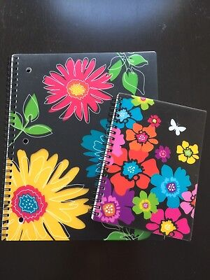 2 In Full Bloom Spiral Notebooks 8 12 X 11 And