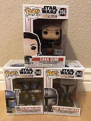 Funko Pop! Star Wars fye Cara Dune, Mandalorian and Heavy Infantry