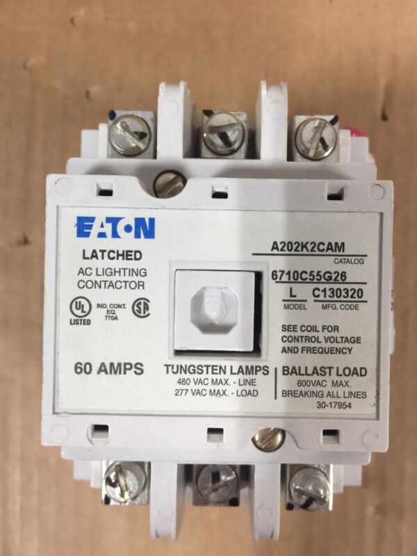 NEW EATON A202K2CAM TYPE A202 60A 480V LIGHTING CONTACTOR FREE 2DAY AIR SHIPPING