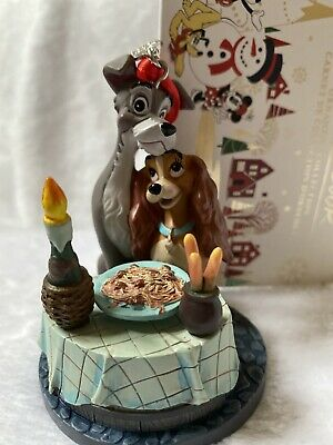 New Disney Store Lady and The Tramp Sketchbook Ornament 2019