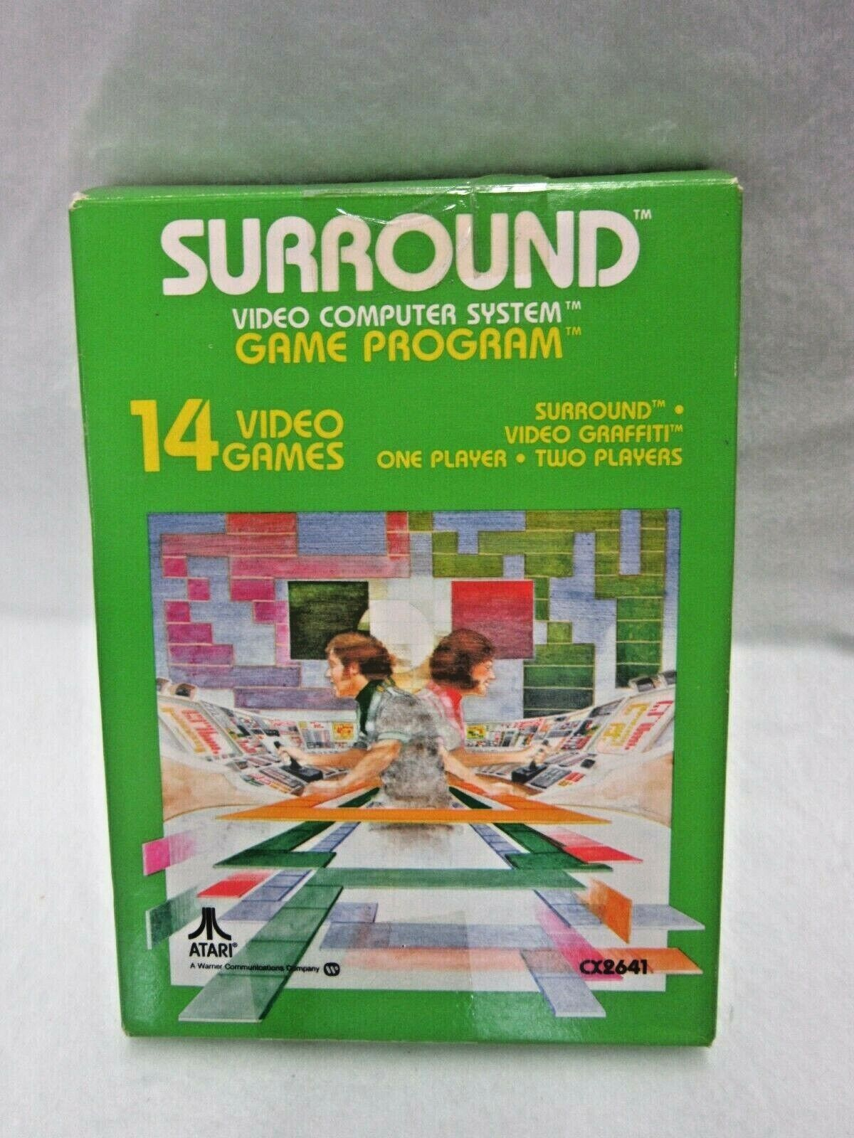 Computer Games - Surround Video Computer System Game Program 14 Video Games For Atari CIB