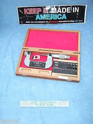 Thread Micrometer Tesa Swiss Made 1-2 10 Anvils Ovr 750 When New Machinist