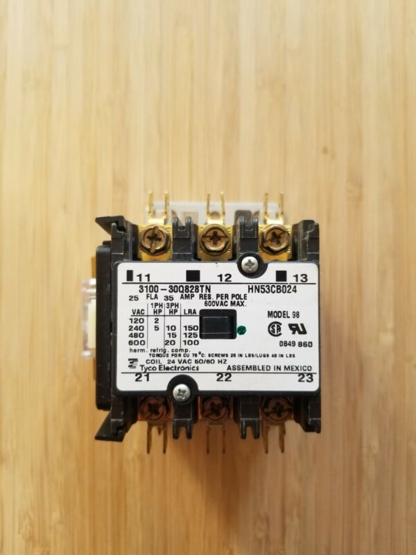 Carrier Contactor Model 98 3100-30Q828TN, HN53CB024 Tyco Electronics