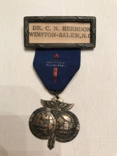 Vintage Medical Medal for 1st International Polio Conference New York 1948