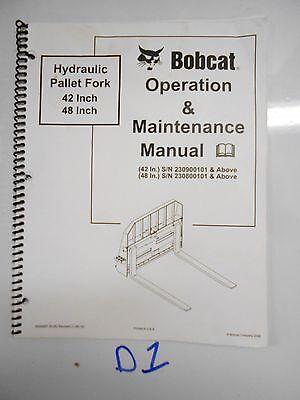 Bobcat Hydraulic Pallet Fork 42 48 Operation Maintenance Manual