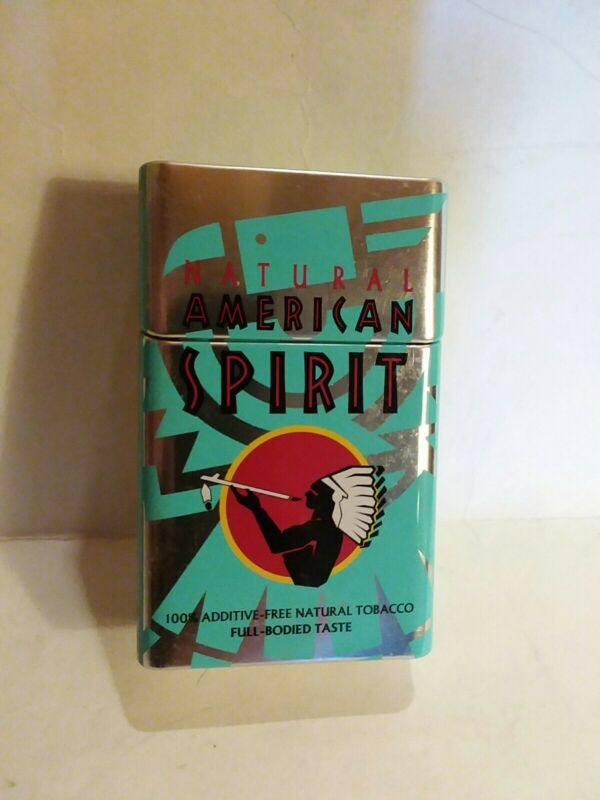 Natural american spirit cigarette Fliptop Tin ( rounded corners)