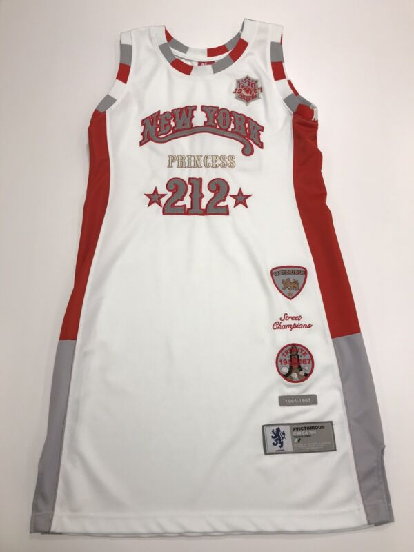 Victorious Urban Couture Streetwear Basketball Jersey Dress White Red Gray XL