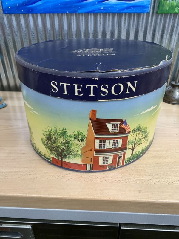 STETSON ~ Hat Box ~ Vintage  ~ Stetson ~ Large ~ Oval ~ Hat box ONLY No Hat