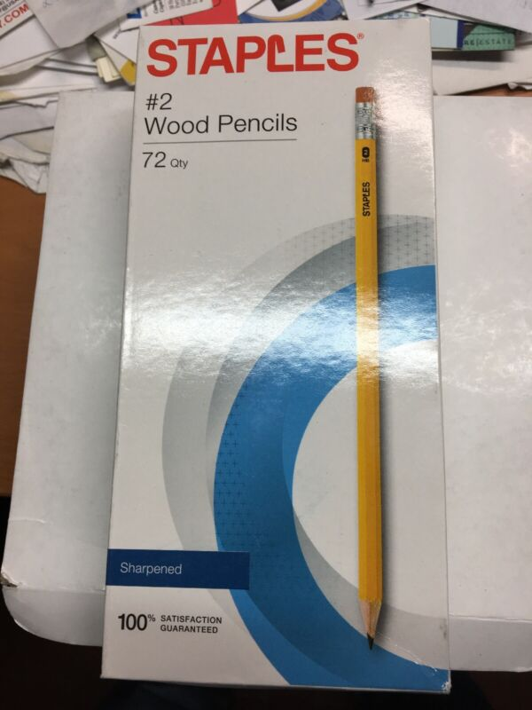 #2 Wood Pencils Yellow 72Qty 50889