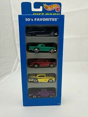 New In Box Hot Wheels 50's Favorites 5- Pack of Beautiful Classic 50's Hot Rods