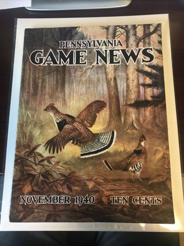 PA Pennsylvania Game News Magazine November 1940