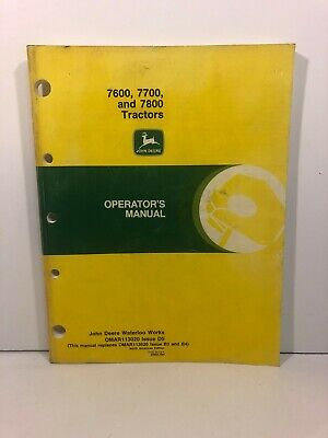 John Deere 7600 7700 And 7800 Tractors Operators Manual Omar113020 Oem Manual
