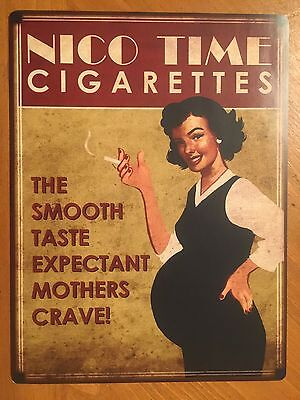 Tin Sign Vintage Nico Time Cigarettes