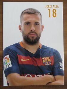 Autogrammkarte AK *JORDI ALBA* FC Barcelona 15/16 2015/2016 Spanien